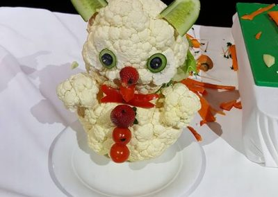 Bear made out of veggies - Norwegian Getaway Cruise