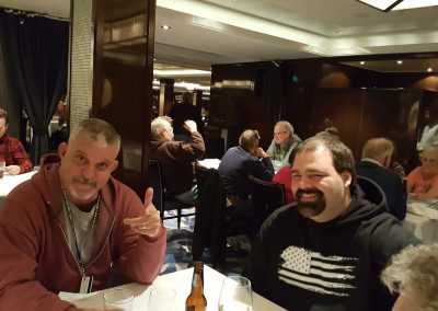 Our First Group Dinner - Norwegian Escape Cruise