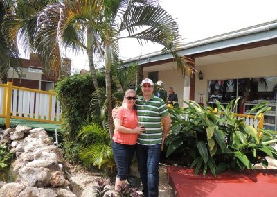 Jen and George in Belize