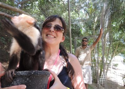 Kim with the Spider Monkeys