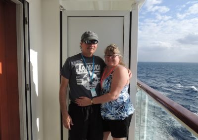 Mike and Colleen on board Norwegian Jade Cruise Ship