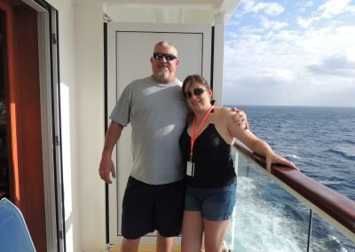 Rick and Kim on board Norwegian Jade Cruise Ship