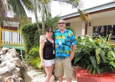 Kim and Rick in Belize