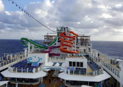 Top deck and slides - Norwegian Getaway Cruise