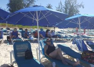 The beach in Barbados - Norwegian Escape Cruise