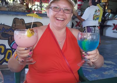 Kelly at Coconuts in Cozumel