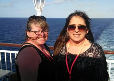 Colleen and Kim aboard the Norwegian Jade Cruise Ship