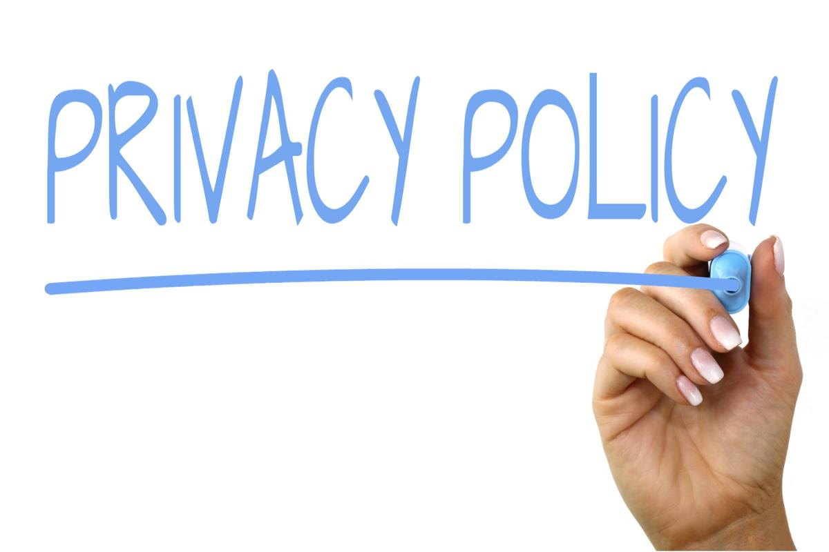 privacy policy - contact page