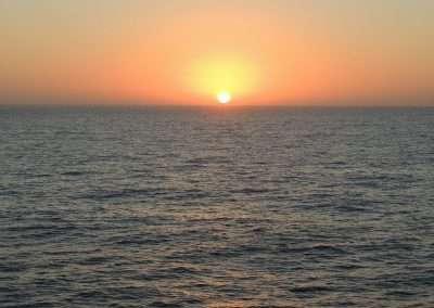 Sunset from the Norwegian Jade Cruise Ship